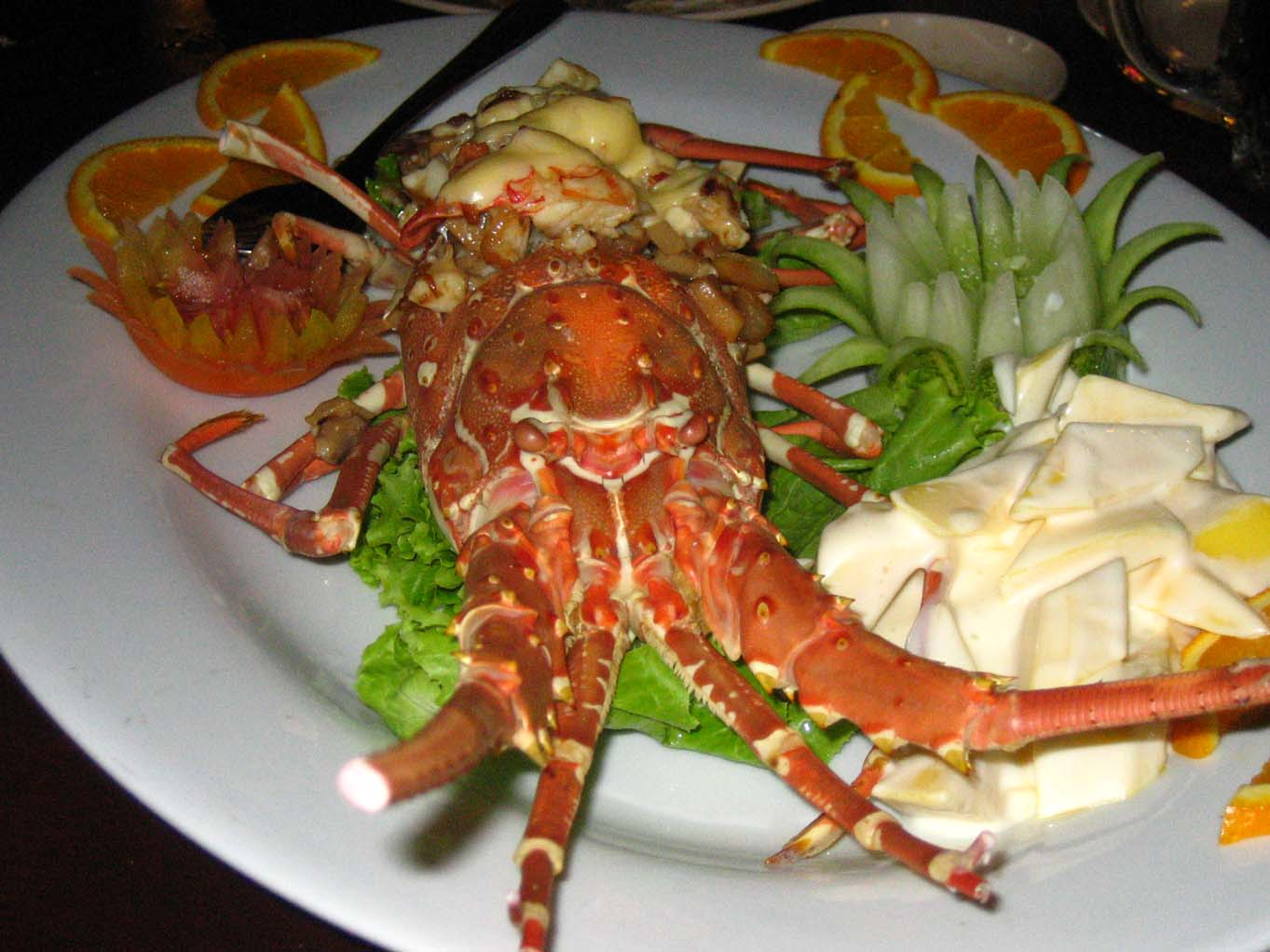 Cheese Lobster and mango salad