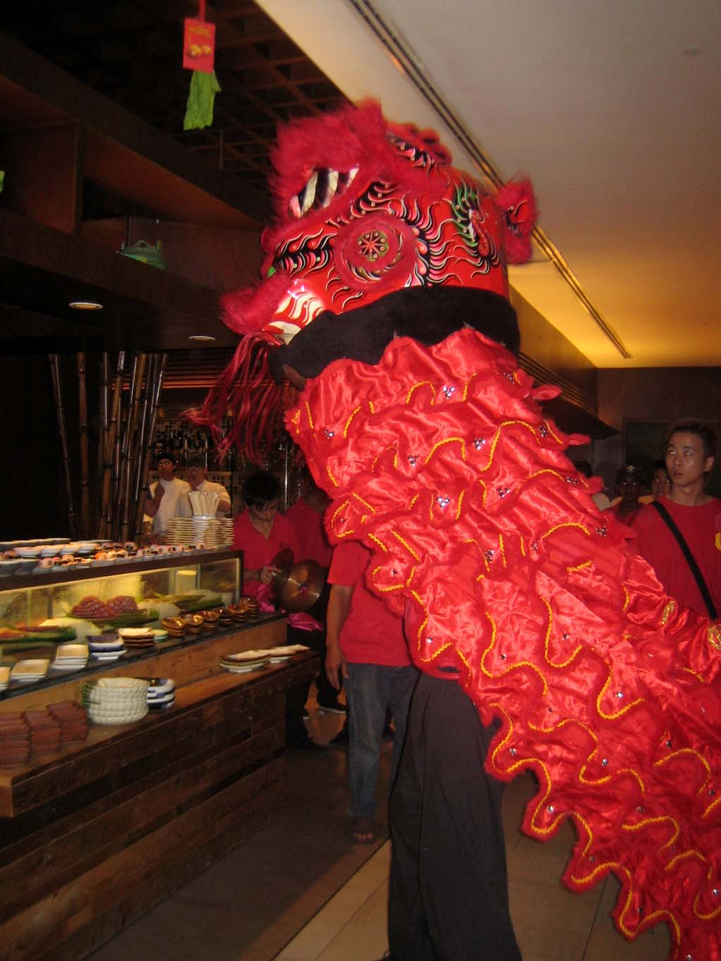 CNY red lion dance