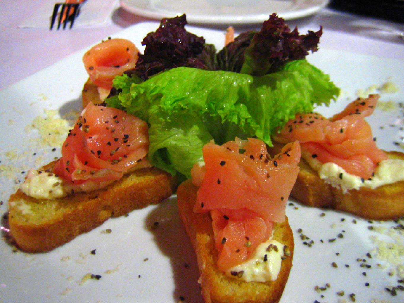 Pizza R Us Salmon Bruschetta