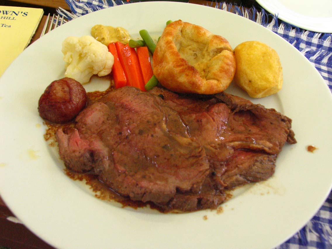 David Brown's Roast Sirloin with Yorkshire Pudding