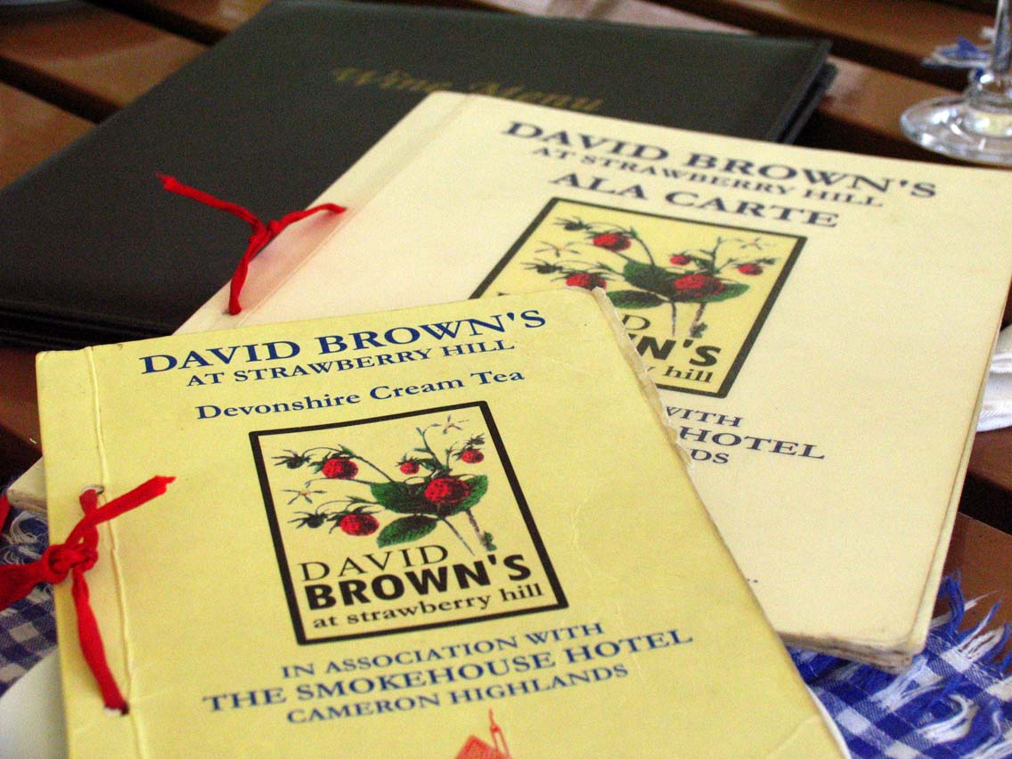 David Brown's menu