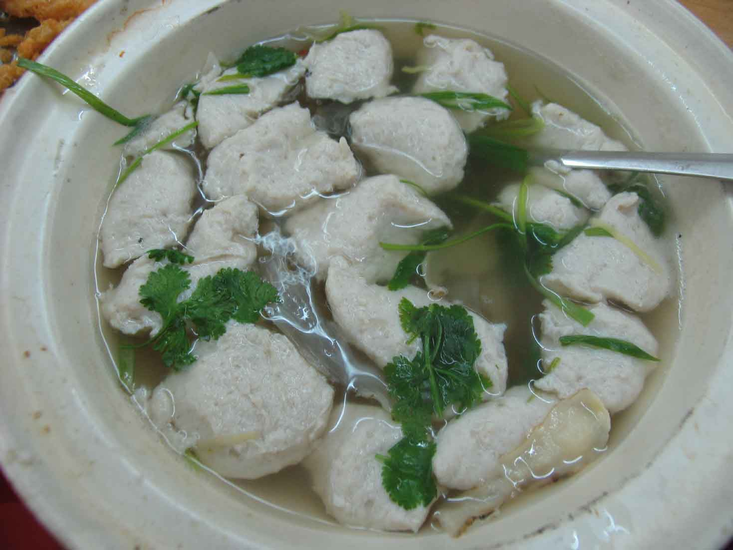Terubong Seafood fish ball soup