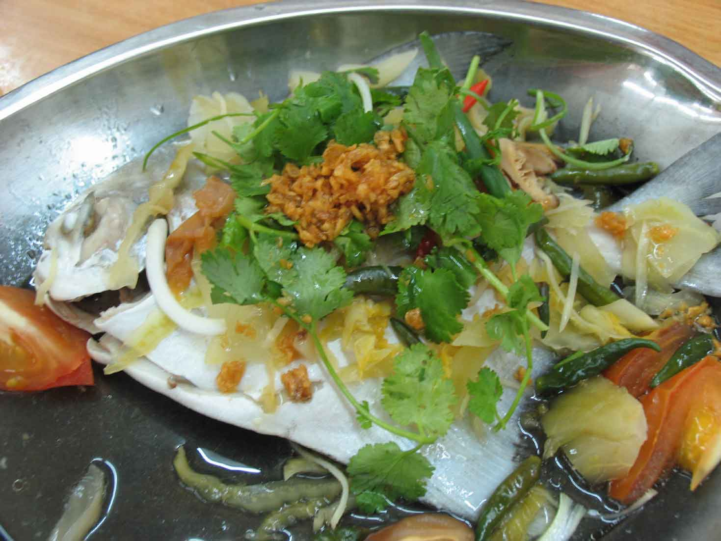 Terubong Seafood steam fish